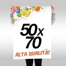 Manifesti 50x70 - a partire da € 0,35 cad