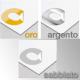 Adesivo Prespaziato Oro - Argento - Sabbiato